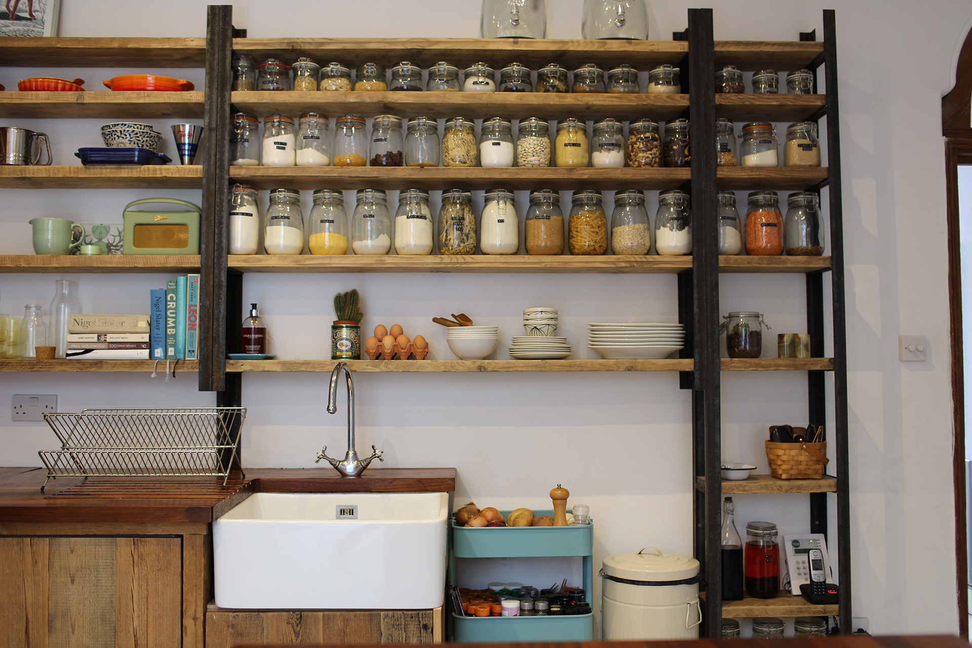 Bristol Reclaimed Kitchen Shelves