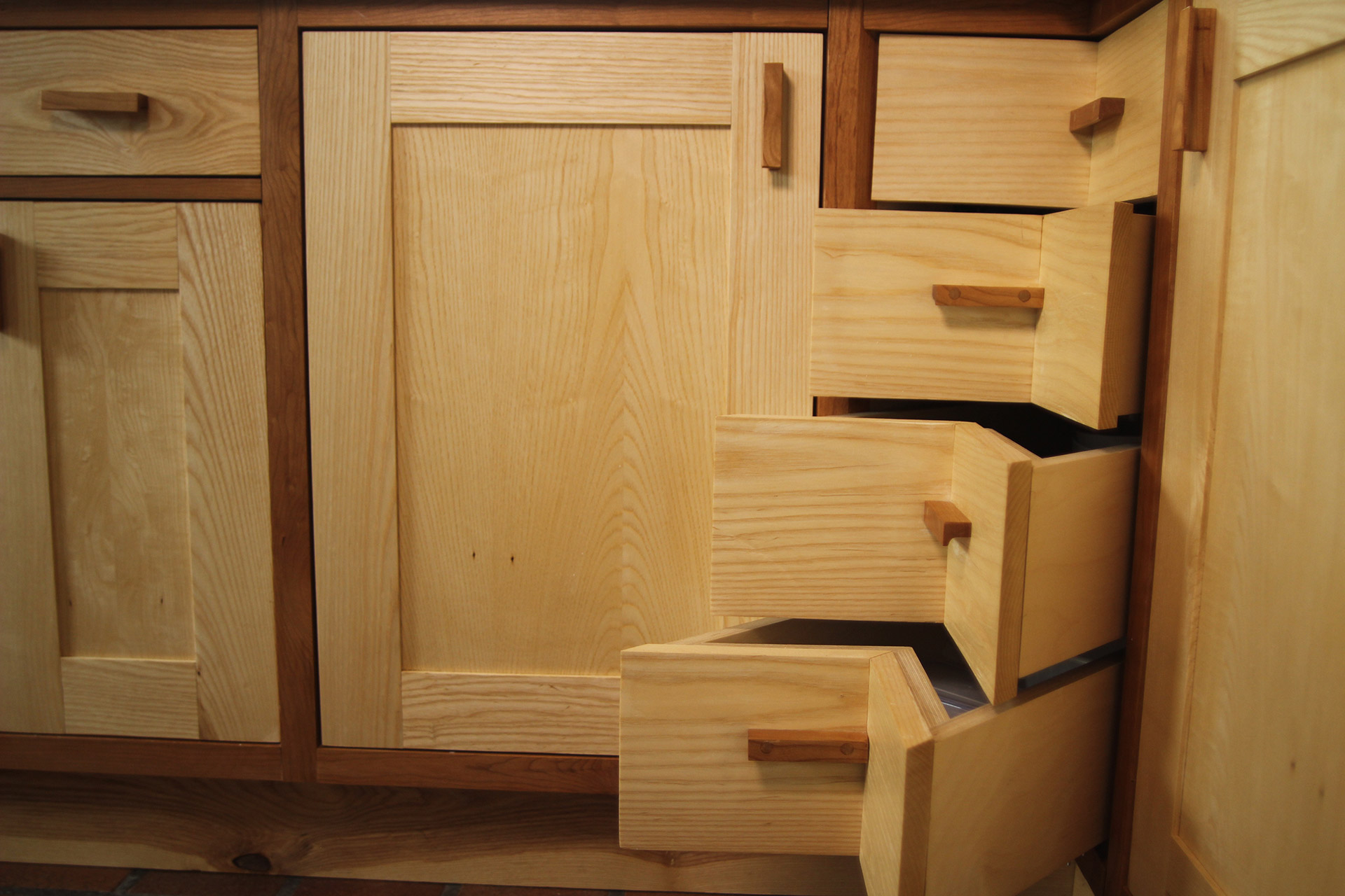 Handmade Shaker Kitchen Corner Drawers